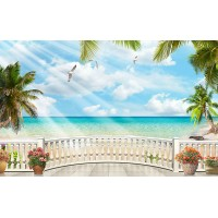 Fototapet Natura Personalizat - Balcon pe Plaja