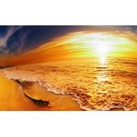 Fototapet Natura Personalizat - Ocean Portocaliu