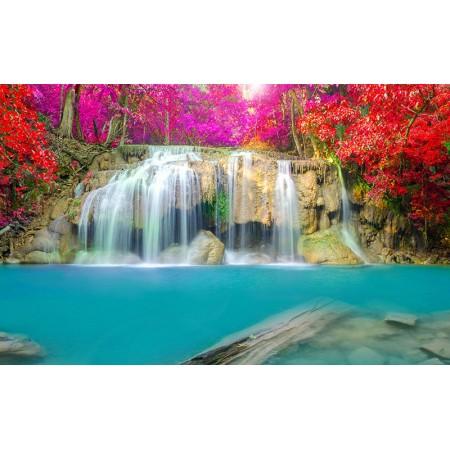 Fototapet Natura Personalizat - Cascada Colorata