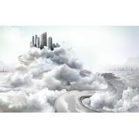 Fototapet Orase Personalizat - Oras in Nori