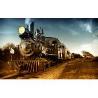 Fototapet Vintage Personalizat - Locomotiva